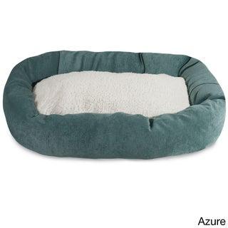 Majestic Pet Villa Collection Faux Velvet/Sherpa Bagel Pet Bed (More options available)