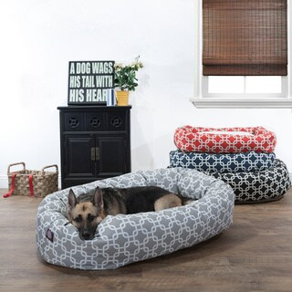 Majestic Pet Links Patterned Bagel Sherpa Pet Bed (More options available)