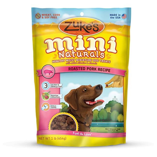 Zuke's Mini Naturals Roasted Pork Recipe Dog Treats (16oz...
