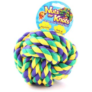 Mutlipet Nuts For Knots Rope Ball Dog Toy|https://ak1.ostkcdn.com/images/products/9464033/P16647169.jpg?impolicy=medium