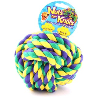 Mutlipet Nuts For Knots Rope Ball Dog Toy