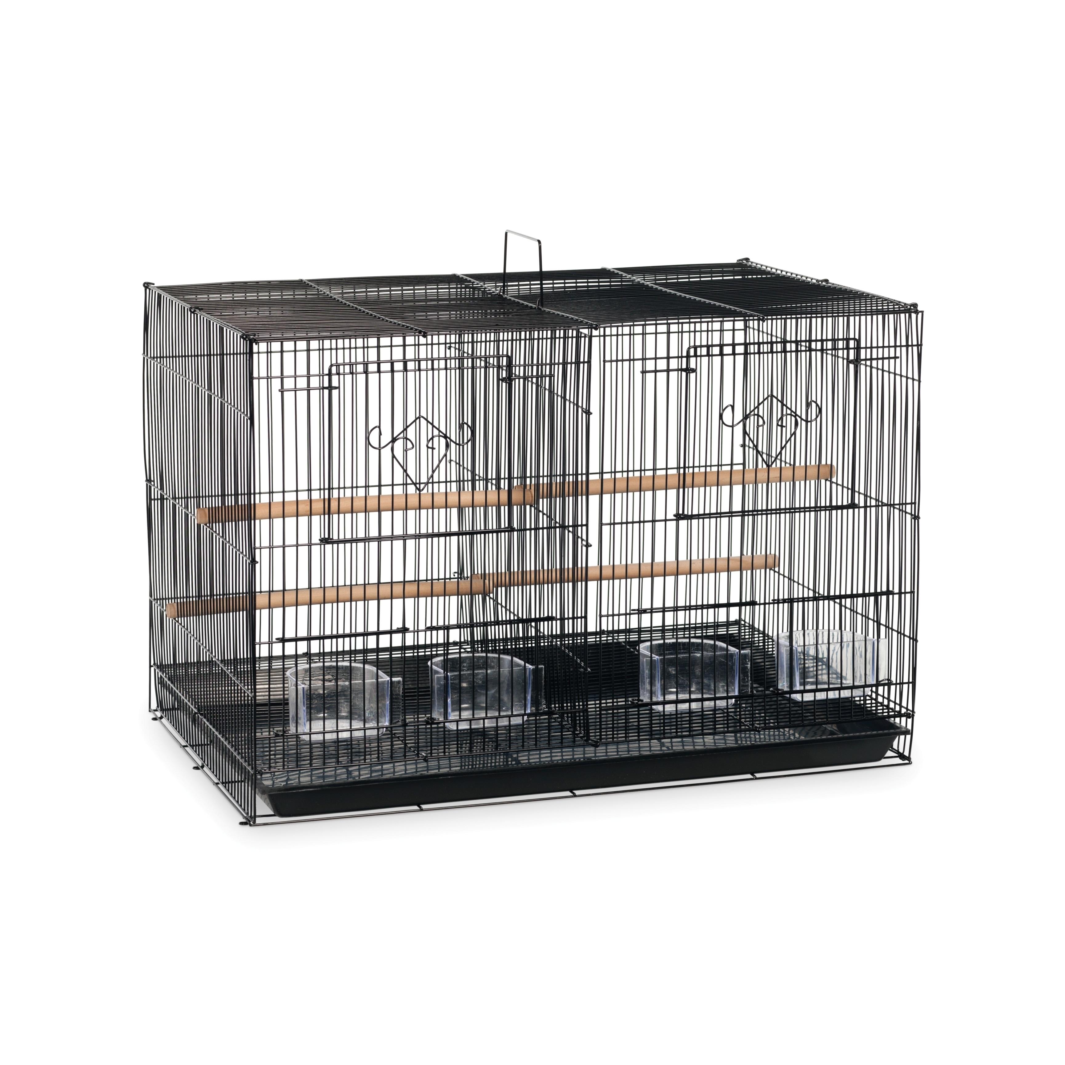 Prevue Pet Products Black Divided Flight Cage (Black)