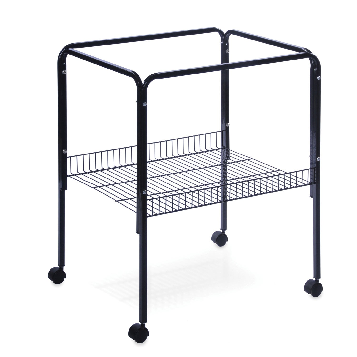 Prevue Pet Products Black Bird Cage Stand with Shelf (Black)
