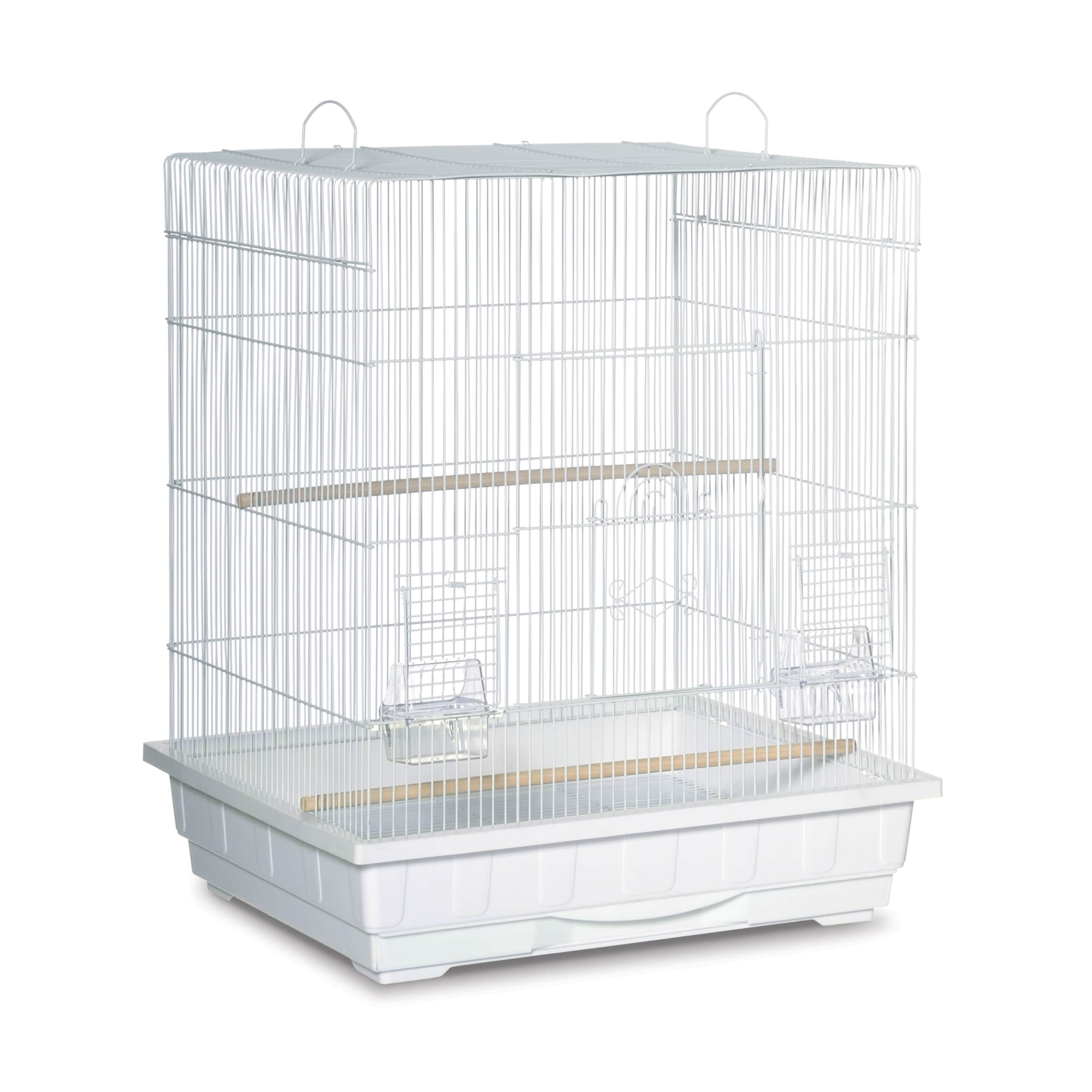 Prevue Pet Products Square Top Parakeet Cage (White)