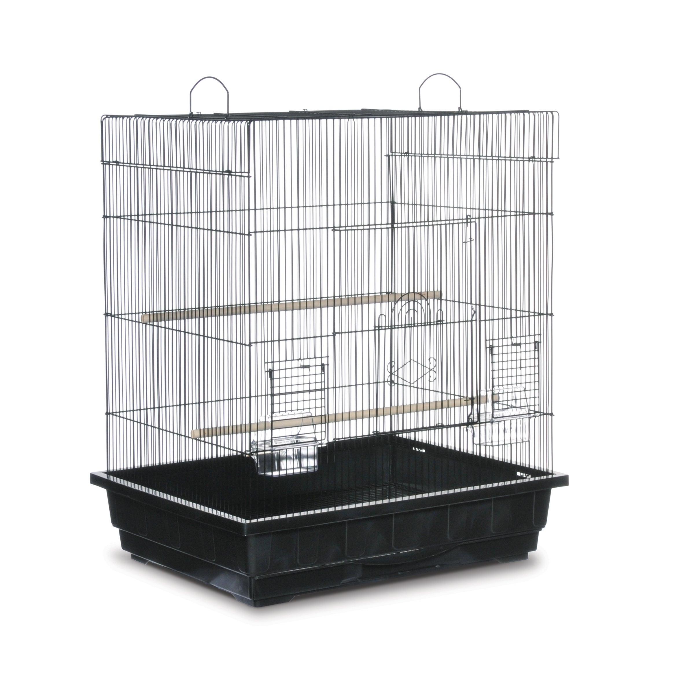 Prevue Pet Products Square Top Parakeet Cage (Black)