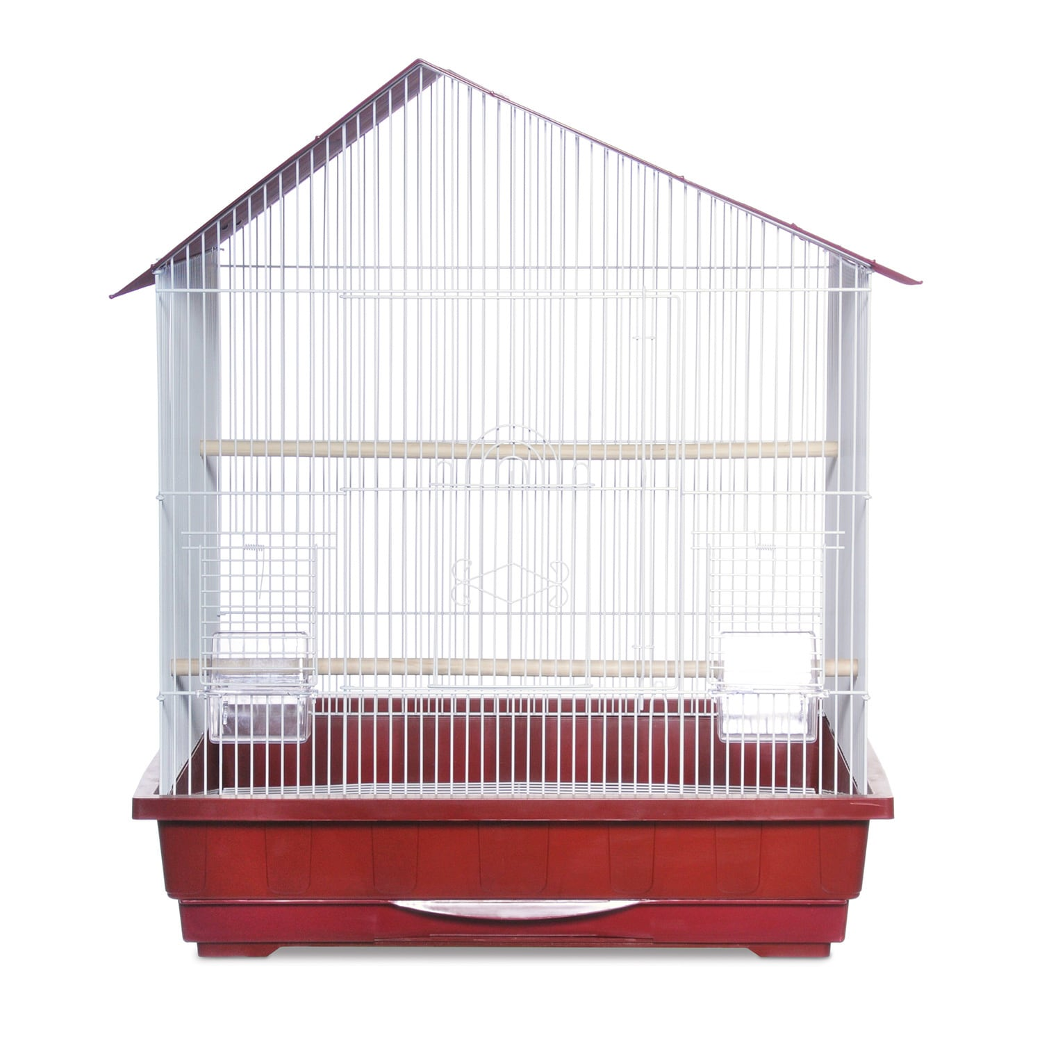 Prevue Pet Products Offset Roof Cockatiel Bird Cage (Red)