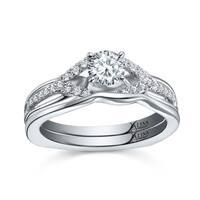 14k White Gold Valina Designer Diamond Bridal Ring Set