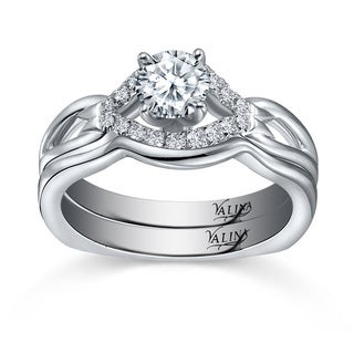 14k White Gold Valina Designer Bridal Diamond 2-piece Bridal Ring Set (F-G, SI1-SI2)