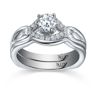 14k White Gold Valina Designer Bridal Diamond 2-piece Bridal Ring Set