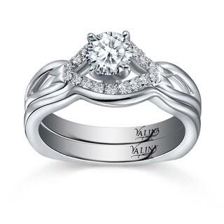 14k White Gold Valina Designer Bridal Diamond 2-piece Bridal Ring Set