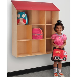 Whitney Brothers Kids Wall Mounted Red Roof Book Shelf