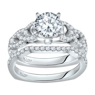 Valina Designer 14k White Gold Round Cut Diamond 2-piece Bridal Set (F-G, SI1-SI2)