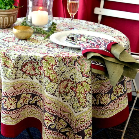 Couleur Nature Malini Rectangle Tablecloth