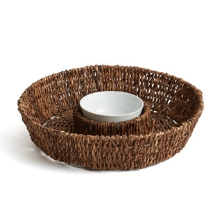Woodard & Charles Abaca Round Serving Tray