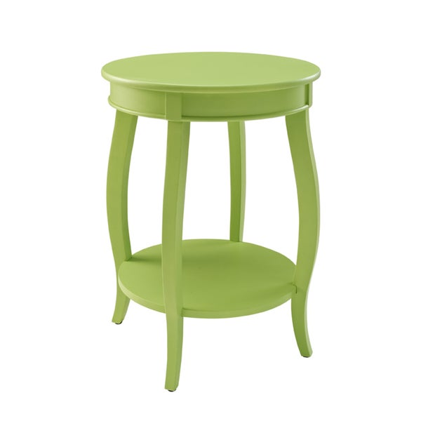 Powell Seaside Lime Round Table with Shelf