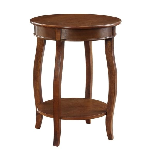 Charmant Powell Seaside Hazelnut Round Table With Shelf