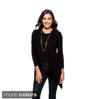 24/7 Comfort Apparel Women's Double Pocket Hooded Shrug-Plus Size Included