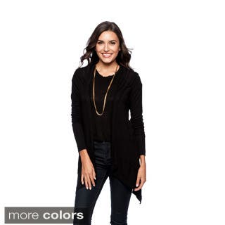 24/7 Comfort Apparel Women's Double Pocket Hooded Shrug-Plus Size Included|https://ak1.ostkcdn.com/images/products/9464429/P16647546.jpg?impolicy=medium