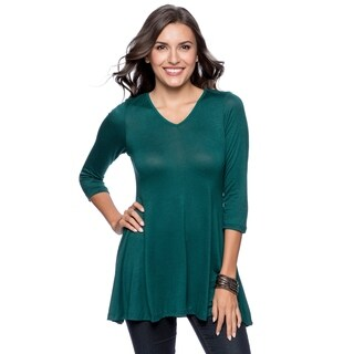 24 7 Comfort Apparel Womens V Neck Tunic Plus Size Included