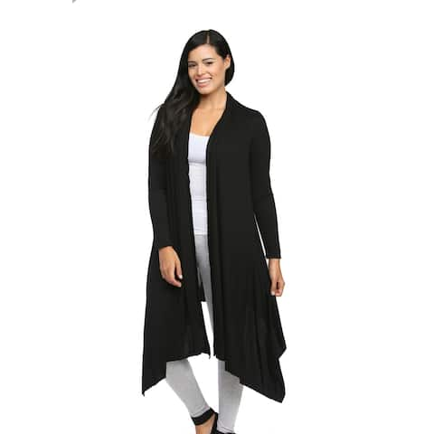 24/7 Comfort Apparel Women's Flowing Long-sleeve Wrap Shrug
