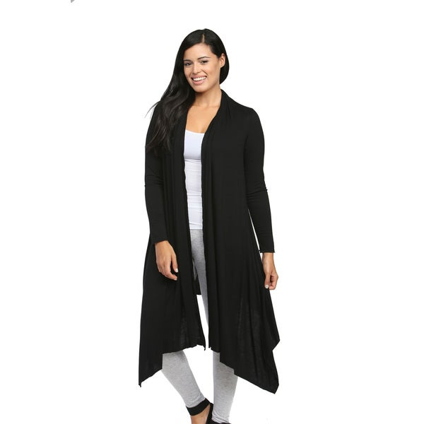 24/7 Comfort Apparel Women's Flowing Long-sleeve Wrap Shrug - Free ...
