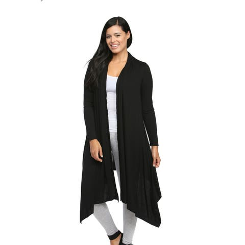 24/7 Comfort Apparel Women's Flowing Long-sleeve Wrap Shrug