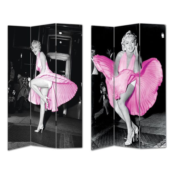 Marilyn Monroe in Pink Room Divider - Marilyn Monroe In Pink Room Divider - Free Shipping Today