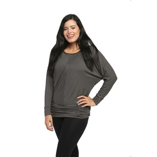 24/7 Comfort Apparel Women's Long Dolman Sleeve Banded Top