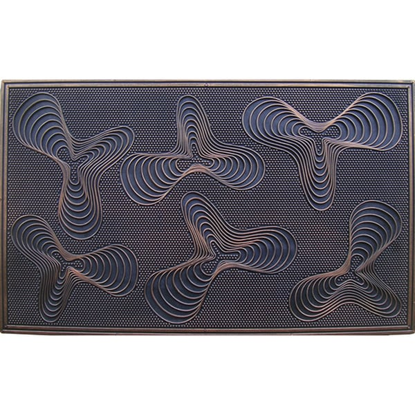 A1HC FIRST IMPRESSION Rubber Pin Doormat (1'6 x 2'6)