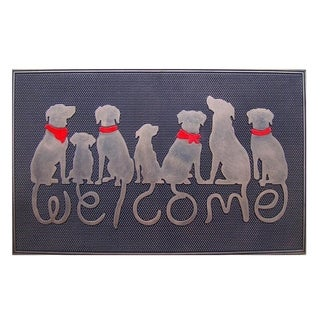 Rubber Dog Tail Welcome Doormat (1'6 x 2'6)