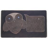 Rubber 'HOO'S THERE' Doormat
