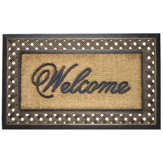 First Impression Rubber and Coir Brush Large Doormat