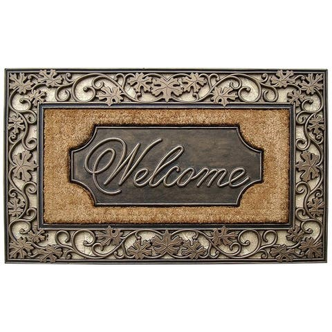 """Rubber and Coir Dirt Trapper Heavy Weight Large Welcome Doormat - 23"""" X 38"""""""