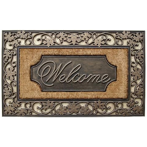 Rubber and Coir Dirt Trapper Heavy Weight Large Welcome Doormat