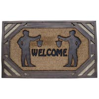 First Impression Large Rubber/ Coir Brush Welcome Doormat