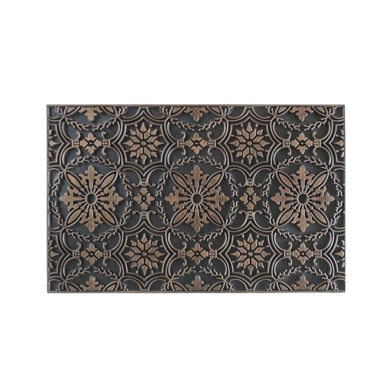 """Hand Crafted Rubber Pin Doormat (1'6 x 2'6) (18""""X30"""", Cop..."""