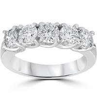 14k White Gold 1 1/2ct TDW Diamond Wedding Ring