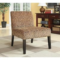 Silver Orchid Bergner Plush Oversized Leopard Print Accent Chair