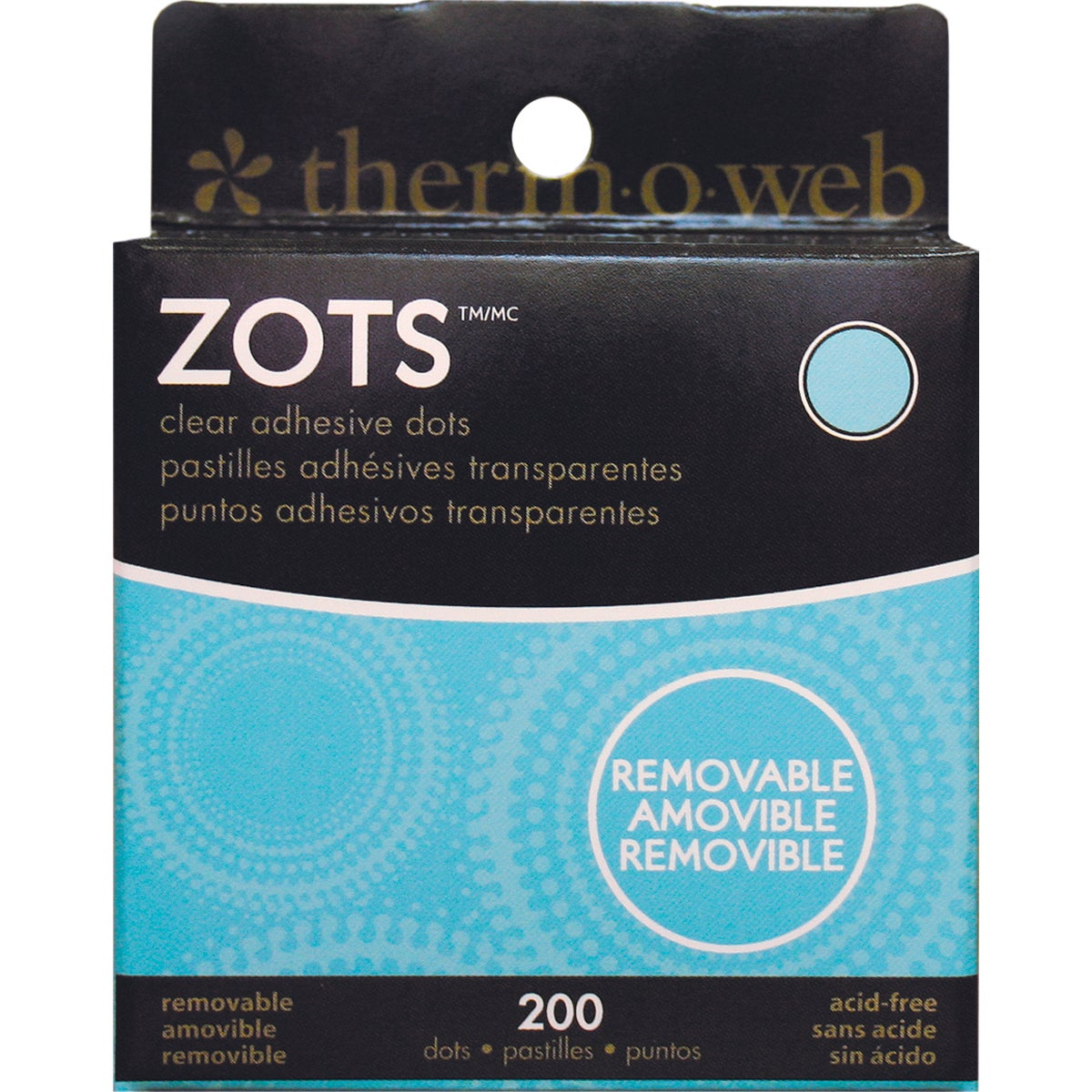 """Therm O Web Zots Clear Adhesive Dots-Removable 3/8""""X1/64""""..."""