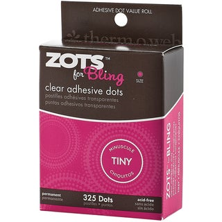 "Zots Clear Adhesive Dots-Bling Tiny 1/8"" 325/Pkg"