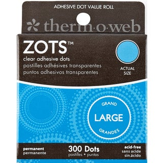 "Zots Clear Adhesive Dots-Large 1/2""X1/64"" Thick 300/Pkg"