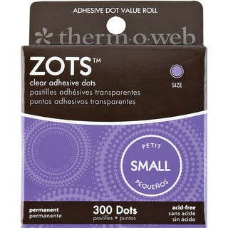 "Zots Clear Adhesive Dots-Small 3/16""X1/64"" Thick 300/Pkg