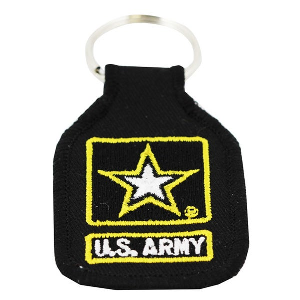 US Army Embroidered Star Logo Keychain