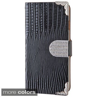 INSTEN Diamond Crocodile Leather Card Wallet Case for Apple iPhone 6 4.7-inch