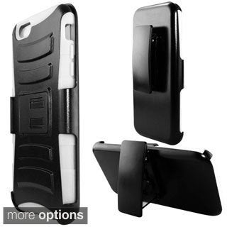 INSTEN w/ Holster Stand PC Silicone Hybrid Case For Apple iPhone 6 Plus 5.5-inch
