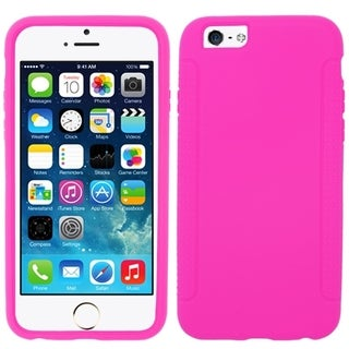 INSTEN Hot Pink Silicone Soft Gel Case Cover for Apple iPhone 6 Plus 5.5-inch