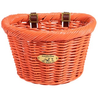 Nantucket Rattan Limited Edition Cruiser D-shaped Bicycle Basket
