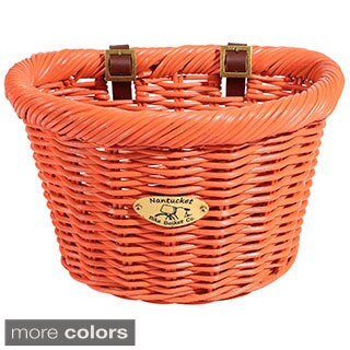 Nantucket Rattan Limited Edition Cruiser D-shaped Bicycle Basket (2 options available)