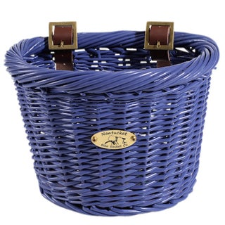 Nantucket Bicycle Basket Co. Gull Kid's D-Shape Pink Bicycle Basket