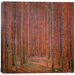 iCanvas Gustav Klimt 'Fir Forest I' Canvas Print Wall Art